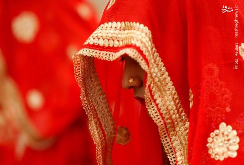 مراسم ازدواج 111 زوج هندی در مسجد احمدآباد