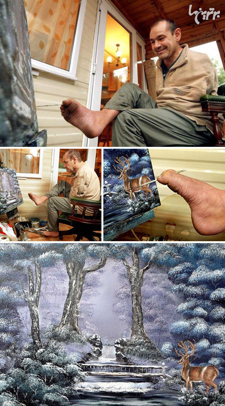 آثار هنری که باور نمیکنید خالقشان معلول باشد