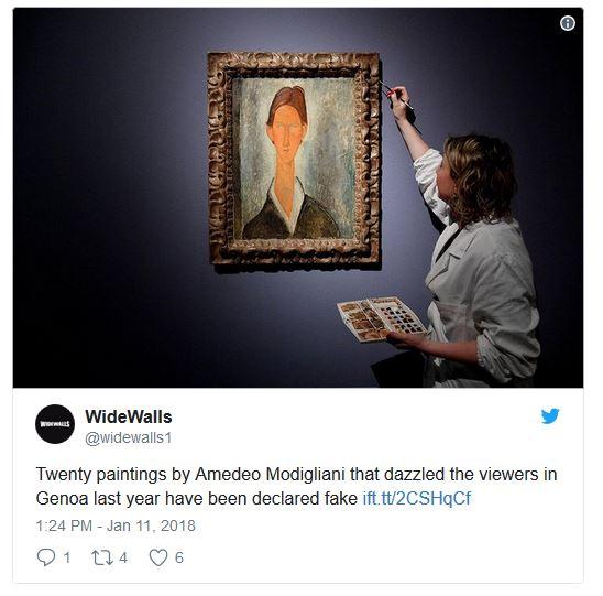 نمایش تقلبی آثار فاخر «آمادئو مودلیانی» در ایتالیا!