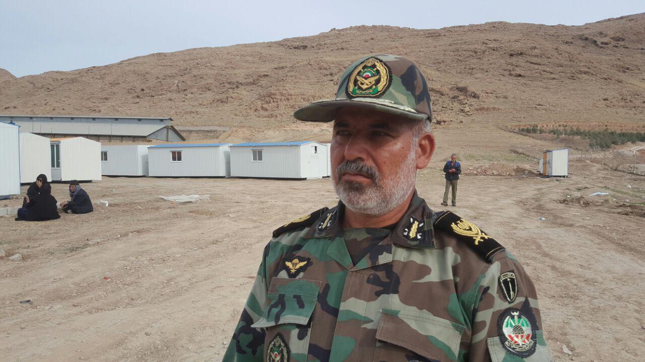 تحویل ۲ هزار کانکس ساخته شده ارتش به بنیاد مسکن/ بهرهمندی ۱ هزار و ۹۰۰ نفر از زلزلهزدگان سرپلذهاب از خدمات دندانپزشکی بیمارستان صحرایی ارتش