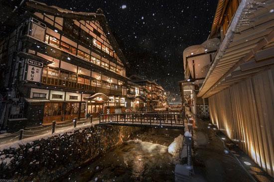 زیبایی  های کشور آفتاب تابان در زمستان برفی
