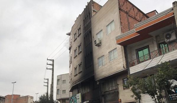 اطفای کامل آتشسوزی آپارتمان 4 طبقه در گرگان/ مصدومیت 4 نفر از اهالی ساختمان و سوختگی سطحی مامور آتشنشانی