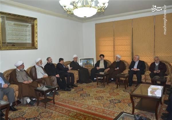 رئیسی، هیأت همراه و «محمد فتحعلی» سفیر ایران در لبنان با «نبیه بری» رئیس پارلمان در «عین التینه» ( مقر رئیس مجلس لبنان) دیدار کردند