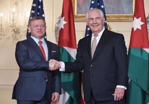 دیدار وزیر خارجه آمریکا و پادشاه اردن