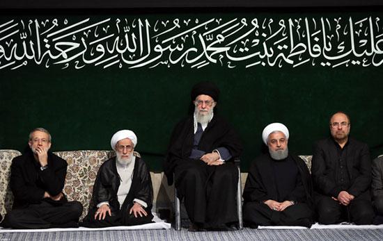 عزاداری روحانی و قالیباف در حسینیه امام (ره)