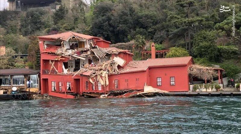 این کشتی با ناکامی کوشش ها برای متوقف کردن آن در ساعت ۱۵:۳۰ دقیقه با یک ویلای تاریخی در نزدیکی پل سلطان محمد برنده در بخش آسیایی تنگه استانبول برخورد نموده است