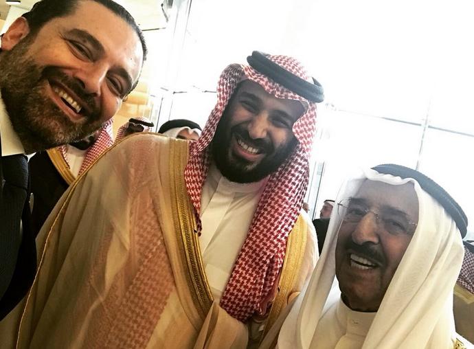 سلفی حریری با ولیعهد سعودی +عکس