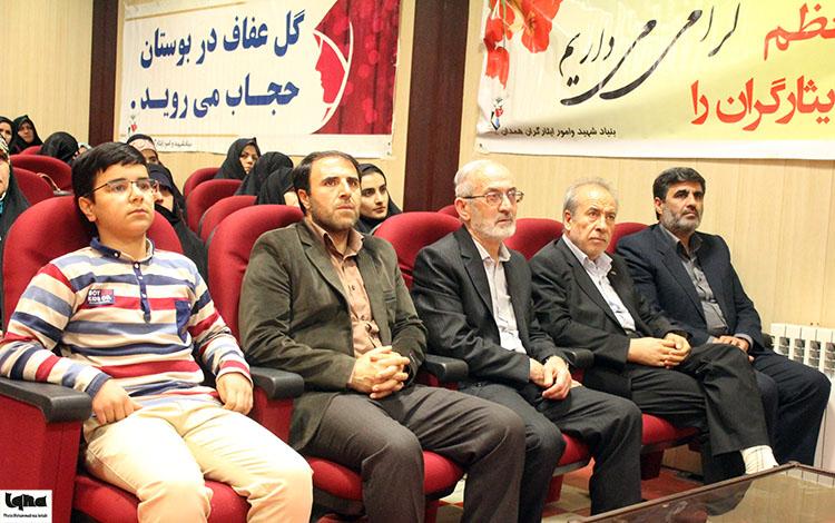 تقدیر از برگزیدگان مسابقات قرآن بنیاد شهید همدان