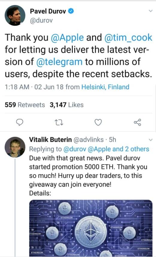 تشکر از تیمکوک به خاطر آپدیت تلگرام در اپلاستور