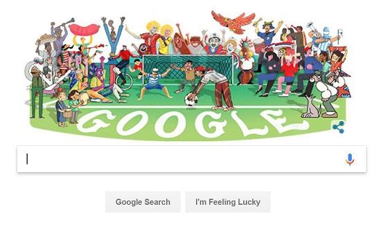 گوگل، حال و هوای جام جهانی پیدا میکند