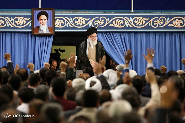 دیدار عیدانه مسئولان نظام با رهبر معظم انقلاب