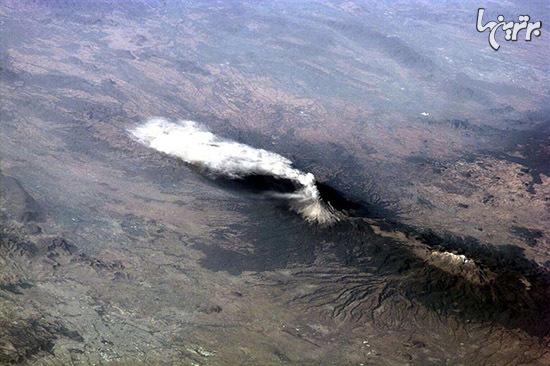 قدرت شگت آور آتشفشانها را از فضا ببینید