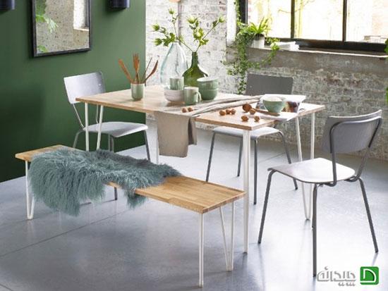 مدل نیمکت چوبی، وقتی با این ۱۰ روش اتاق غذاخوری متمایز می گردد!