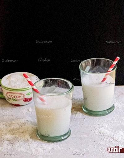 طرز تهیه شیر نارگیل خانگی با پودر نارگیل