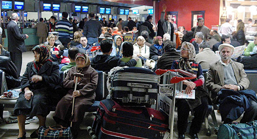 حقوق قانونی مسافران، هنگام دیرکرد هواپیما