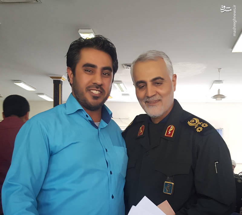 برادر شهید کارگربرزی و حاج قاسم سلیمانی