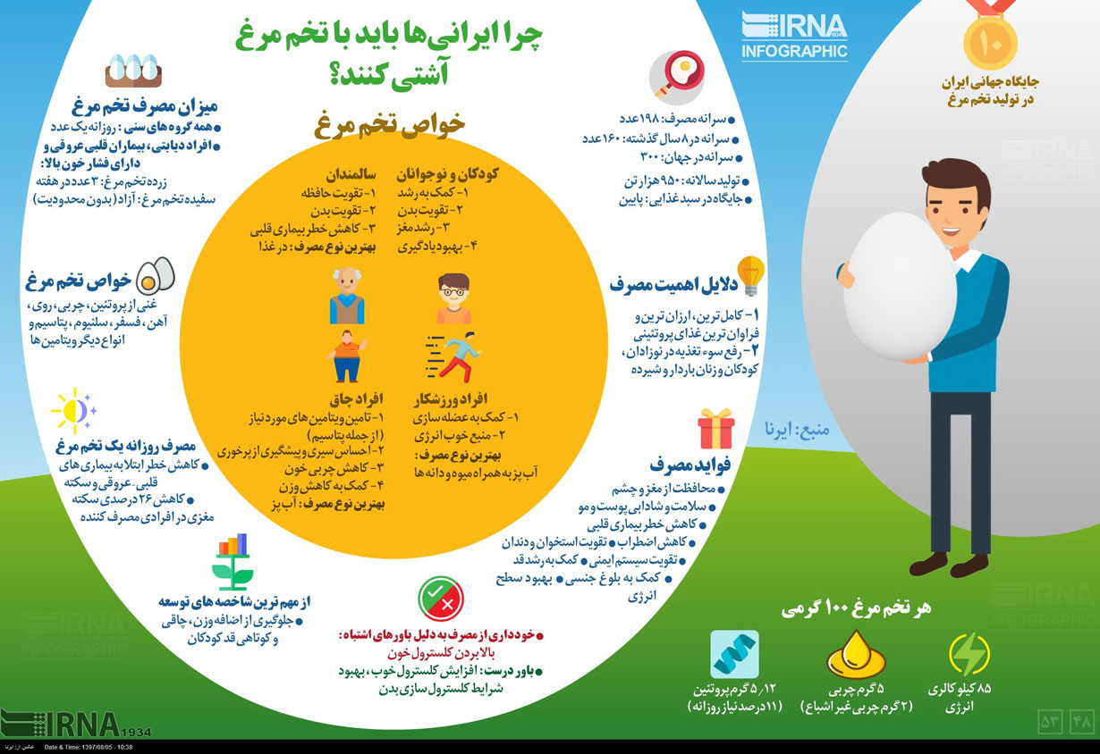 اینفوگرافیک؛ چرا ایرانیها بایدبا تخم مرغ آشتی کنند
