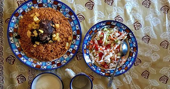 طرز تهیه چکدرمه غذای محلی ترکمن ها