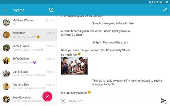 معرفی خوب ترین نرم افزار های رایگان ارسال پیامک در اندروید