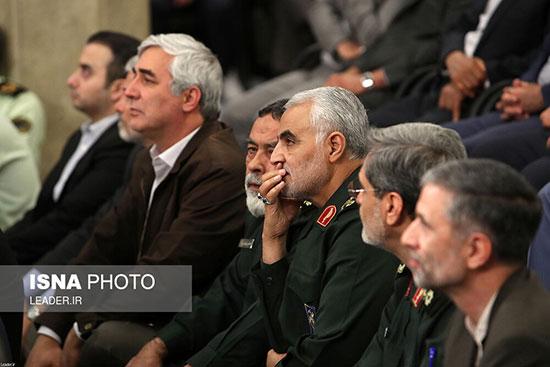سردار سلیمانی در دیدار مسئولان نظام با رهبر انقلاب
