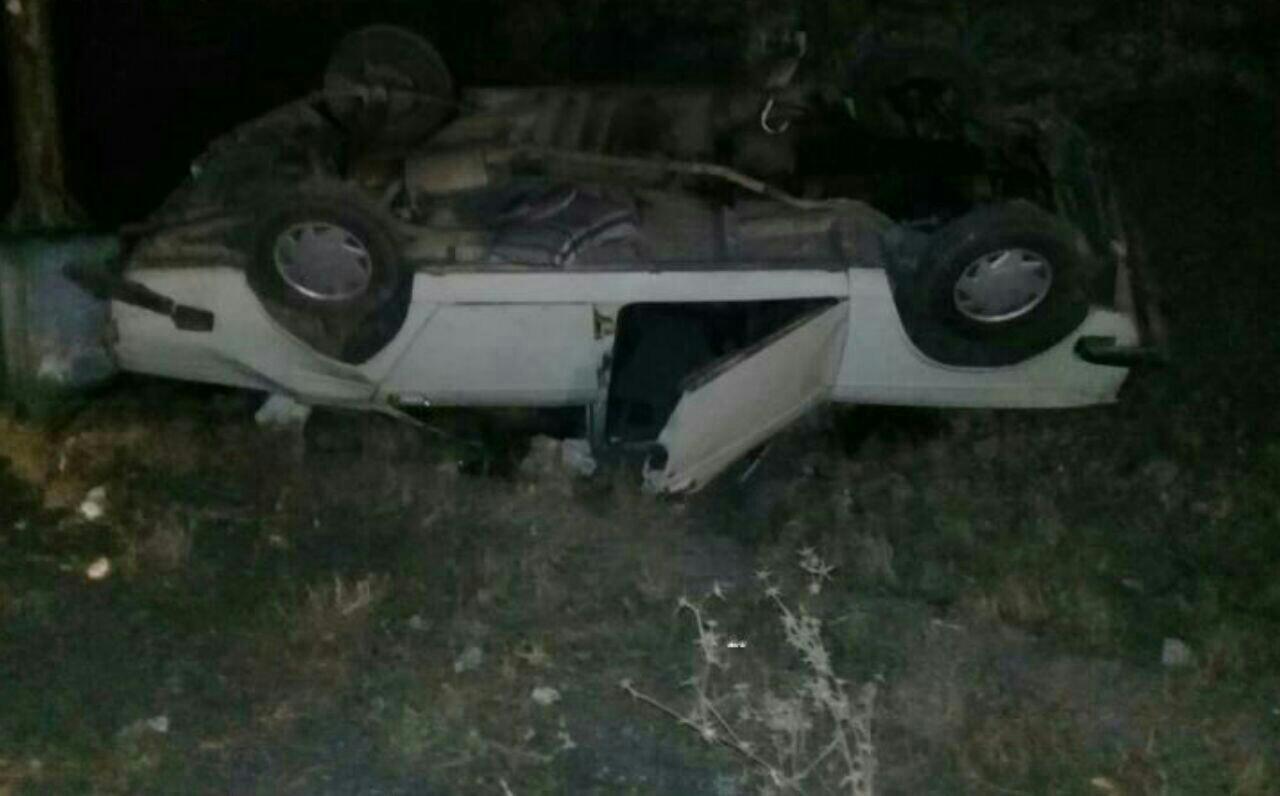 یک کشته براثر واژگونی خودرو در شهربابک