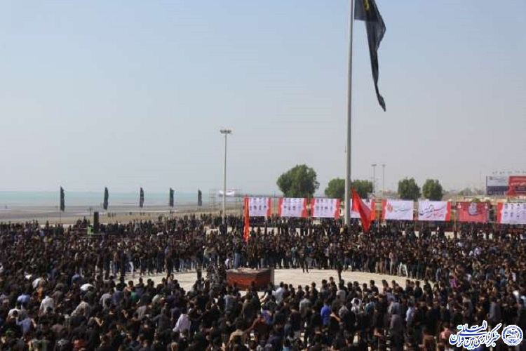 برگزاری تجمع عزاداران تاسوعای حسینی در بوستان غدیر بندرعباس