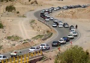 ترافیک نیمه سنگین در جادههای چهارمحال و بختیاری