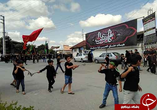 مراسم عزاداری عاشورای حسینی در روستای سمسکنده علیای ساری+تصاویر