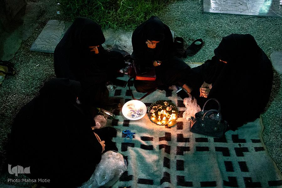 شام غریبان در جوار شهدا