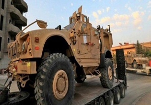 ورود یک کاروان نظامی آمریکایی از عراق به سوریه