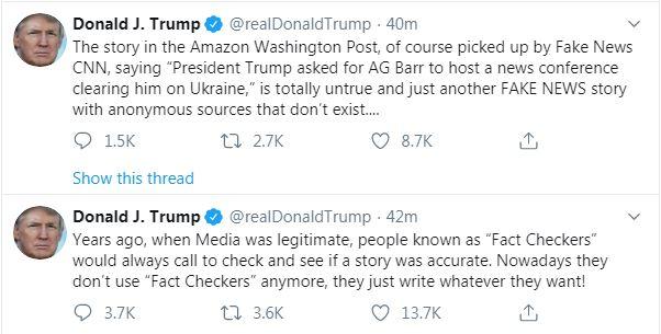 حمله دوباره ترامپ به رسانههای مخالف