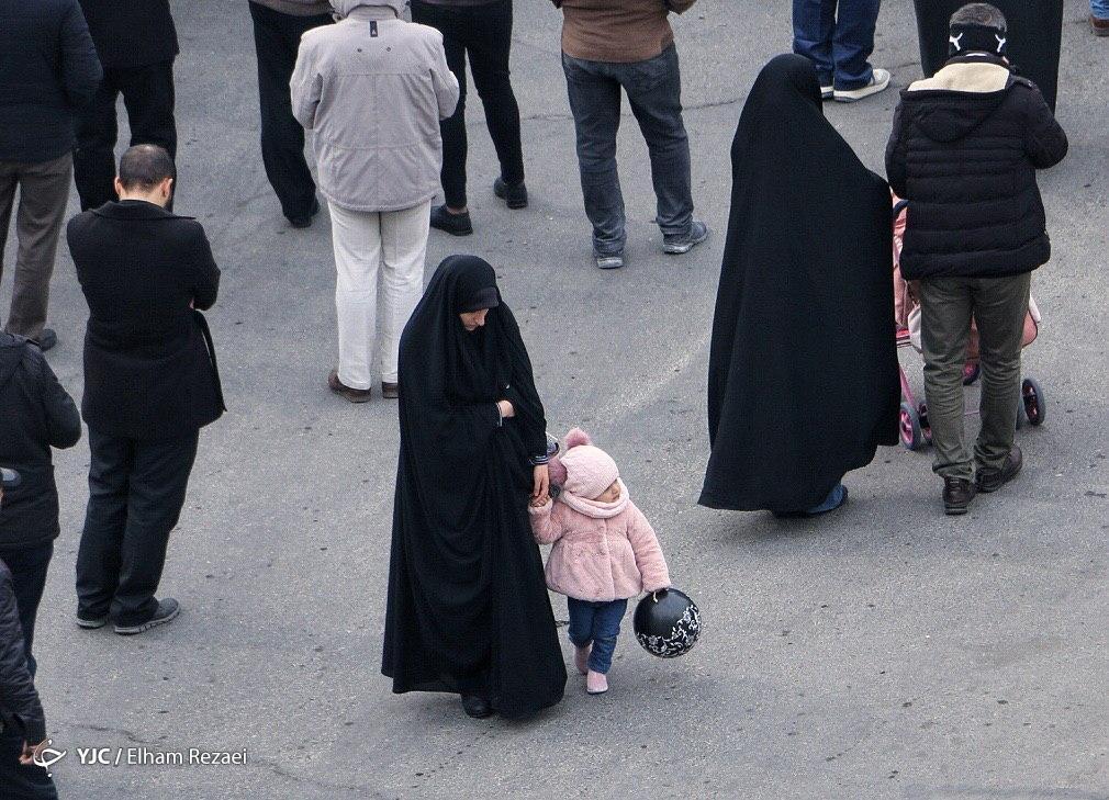 تجمع امروز فاطمیون در منطقه سعادت آباد تهران + تصاویر