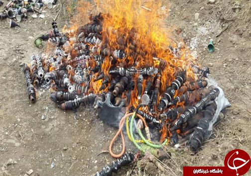 به آتش کشیدن قلیانهای کرونایی + تصاویر